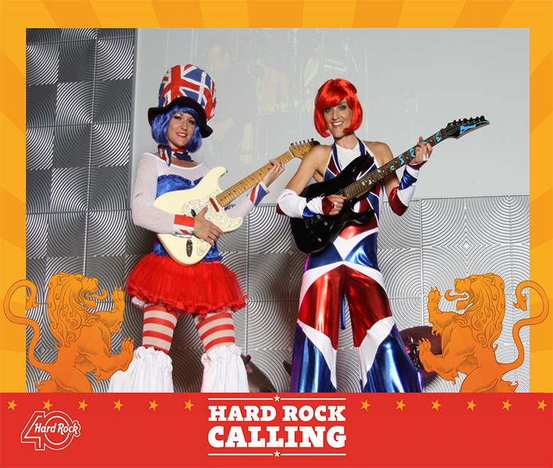 Hard Rock Calling band picture using green screen technology
