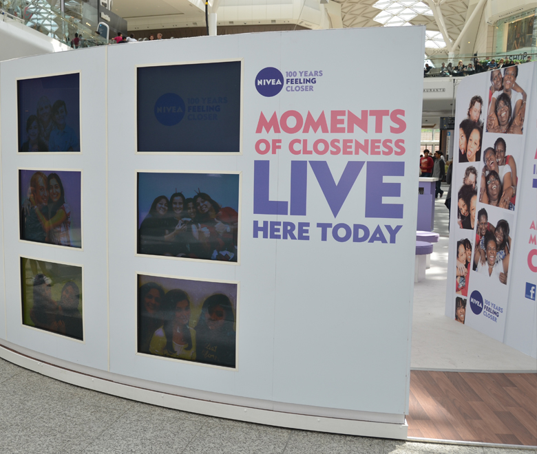 Nivea photo marketing photo booth