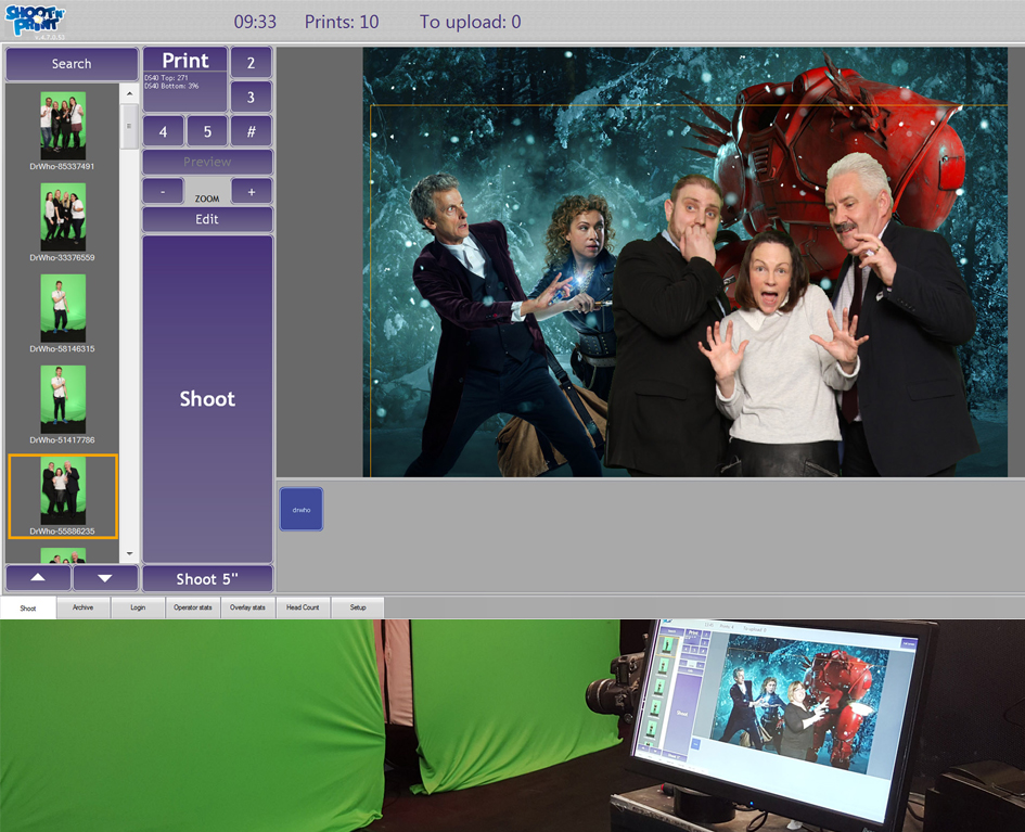 Doctor Who green screen photo shoot final image