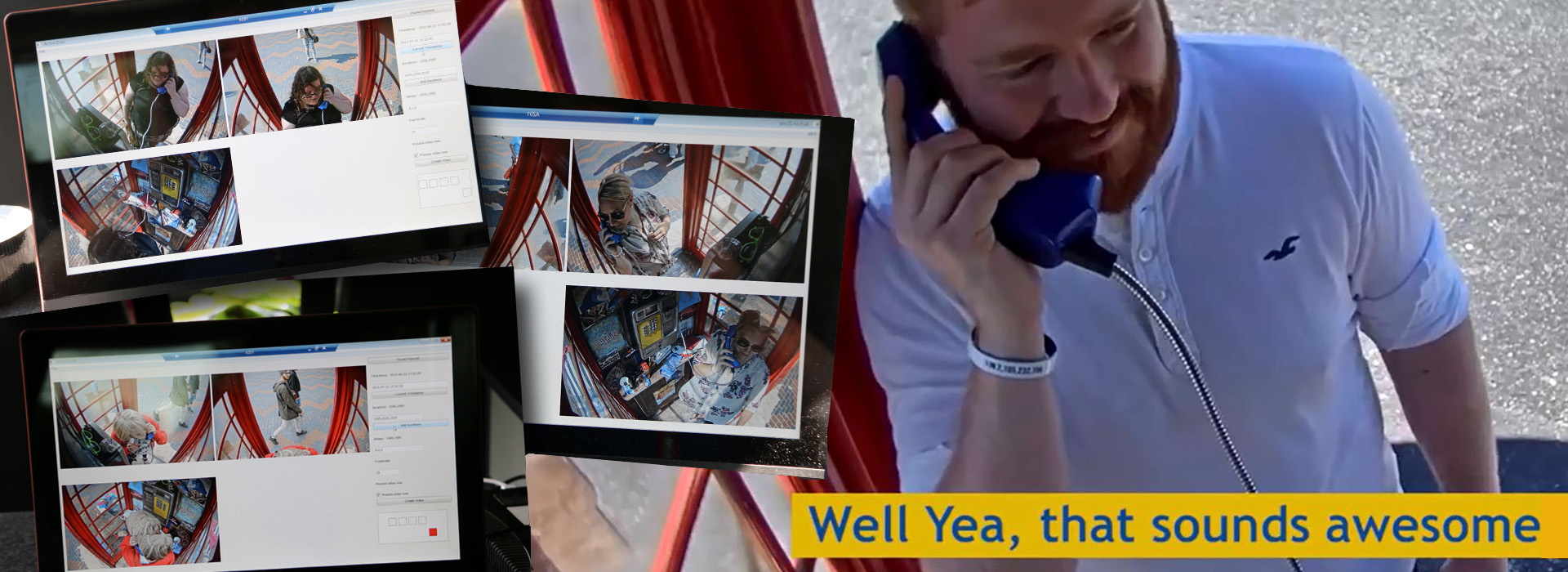 Going viral in a telephone box