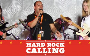 Hard rock calling photography to promote an event