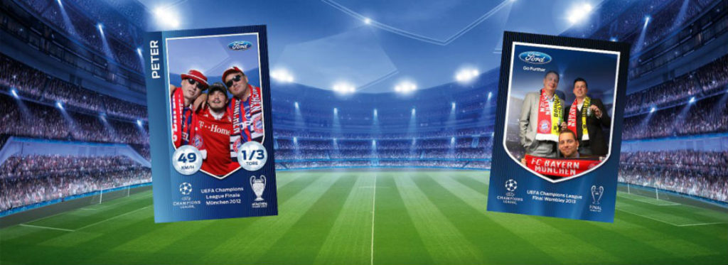 Green screen photography creating promotional football cards
