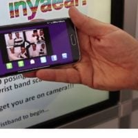 social media photo booth takes users to microsite on mobile