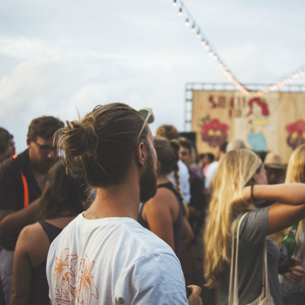 People gathered at 2017 summer festivals