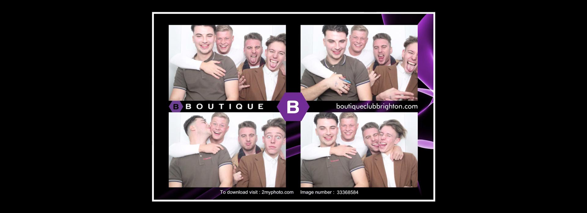 Branded night club photo booth image