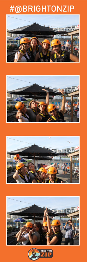 Brighton Zip Selfie Pod Photo Strip