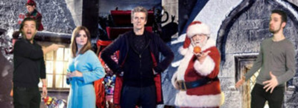 Doctor Who Characters with Santa green screen
